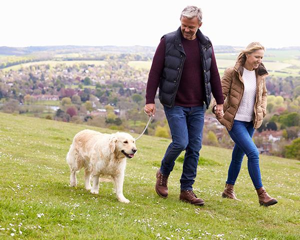 Carers Walking Dog