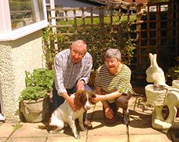 Lyn and Derek with Bertie