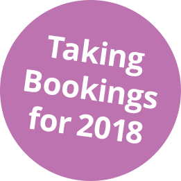 Taking Bookings for 2018