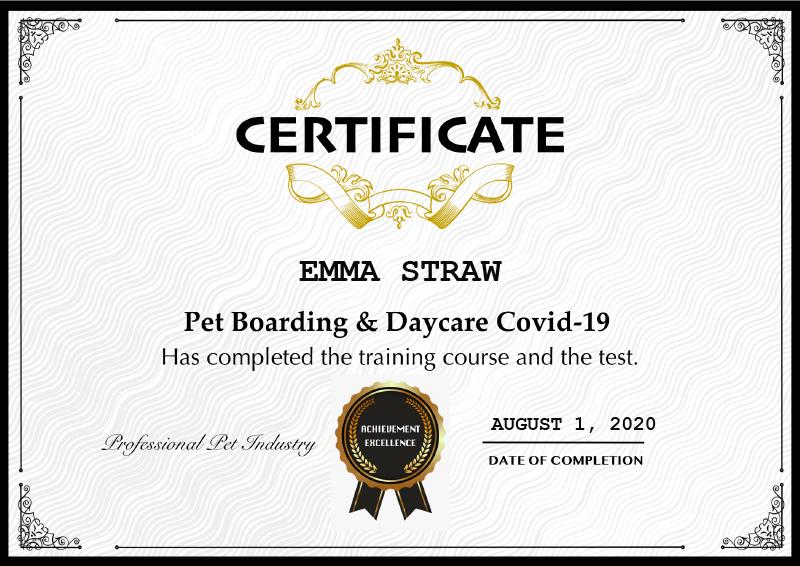 Pet Boarding & Daycare Covid-19